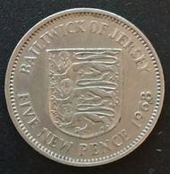 JERSEY - 5 PENCE 1968 - Elizabeth II - 2eme Effigie - KM 32 - FIVE NEW PENCE - Jersey