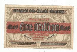 Billet , Allemagne , MAINZ , Eine , 1 Million Mark , 1.8.23 , 1923 , 2 Scans - [ 3] 1918-1933: Weimarrepubliek