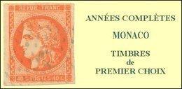 Monaco, Année Complète 2001, N° 2295 à N° 2318** Y Et T - Années Complètes