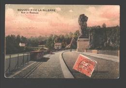 Gileppe - Souvenir De La Gileppe - Sur Le Barrage - Timbre En Face - Publicité En Relief  'Casino De Bethane' - Gileppe (Barrage)