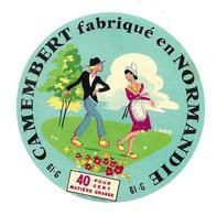 ETIQUETTE De FROMAGE..CAMEMBERT Fabriqué En NORMANDIE (Orne 61-G) - Cheese