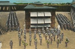 Manila Bilibid Prison Inspection Of Prisoners  Band . Music . Convicts - Philippines