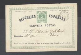 Spagna - 1873 - Usato/used - Targeta Postal - Mi N. P2 I A - 1850-1931