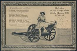Ansichtskarte Feldpostkarte 1915 Cöln Nach Borbeck Artillerie Kanon Kleine Mimi - Unclassified
