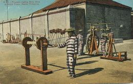 Manila Bilibid Prison  Prisoners  Making Hemp Rope  Convicts. Bagne . Fabrique De Cordes De Chanvre - Philippines