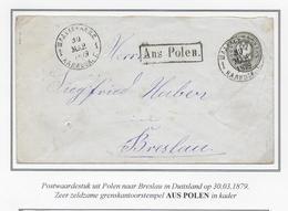 1879 AUS POLEN Nach BRESLAU - Entiers Postaux