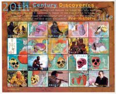 Ref. 337126 * NEW *  - PALAU . 2000. TWENTIETH CENTURY DISCOVERIES. PALEOANTHROPOLOGY. DESCUBRIMIENTOS DEL SIGLO XX. PAL - Palau