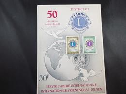 "BELG.1967 1404 & 1405  FDC ( Antwerpen ) Philacard :  "" Lions International 50 "" - FDC"