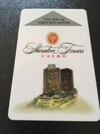 Hotelkarte Room Key Keycard Clef De Hotel Tarjeta Hotel  SHERATON TOWERS CAIRO - Télécartes