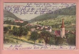OLD POSTCARD - SWITZERLAND - SCHWEIZ - SUISSE -     GRUSS AUS LANGENBRUCK 1903 - BL Basle-Country