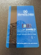 Hotelkarte Room Key Keycard Clef De Hotel Tarjeta Hotel  SHERATON CAIRO HOTEL CASINO & TOWER - Telefonkarten