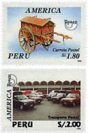Ref. 49103 * NEW *  - PERU . 1995. AMERICA-UPAEP. POSTAL TRANSPORT. AMERICA-UPAEP 1994 -  TRANSPORTES POSTALES - Peru