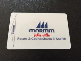 Hotelkarte Room Key Keycard Clef De Hotel Tarjeta Hotel  JOLIE VILLE   MARITIM LUXOR RESORT - Telefonkarten