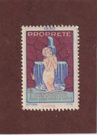 Vignette De 1930 - PROPRETÉ - Dpt. De L' YONNE  -  Deux Sous Pour La Santé - Contre La TUBERCULOSE - 2 Scannes - Erinnophilie