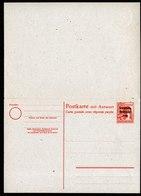 A6654) SBZ Antwortkarte Mi.P33 Ungebraucht - Sowjetische Zone (SBZ)