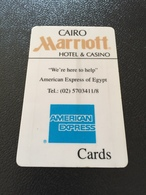 Hotelkarte Room Key Keycard Clef De Hotel Tarjeta Hotel  MARRIOTT CAIRO HOTEL &  CASINO - Télécartes