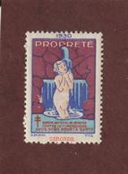 Vignette De 1930 - PROPRETÉ - Dpt. De La  GIRONDE  -  Deux Sous Pour La Santé - Contre La TUBERCULOSE - 2 Scannes - Erinnophilie