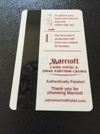 Hotelkarte Room Key Keycard Clef De Hotel Tarjeta Hotel  MARRIOTT CAIRO HOTEL & OMAR KHAYYAM CASINO - Telefonkarten