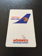 Hotelkarte Room Key Keycard Clef De Hotel Tarjeta Hotel  MÖVENPICK HOTEL & CASINO CAIRO EGYPT AIR - Télécartes