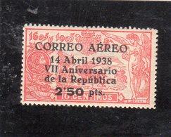 Espagne 1938(T-P De 1905 Surchatgé ) PA N°186** - 1931-Today: 2nd Rep - ... Juan Carlos I