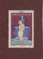 Vignette De 1930 - PROPRETÉ - Dpt. Du  NORD  -  Deux Sous Pour La Santé - Contre La TUBERCULOSE - 2 Scannes - Erinnophilie
