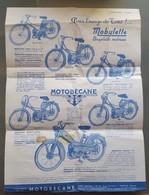 Dépliant Publicitaire Motobécane : Mobylette... Vélomoteurs... Motocyclettes. Janvier 1957 (scan RV) - Werbung