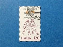 1979 ITALIA CAMPIONATO EUROPEO PALLACANESTRO MASCHILE 120 LIRE FRANCOBOLLO USATO ITALY STAMP USED - 6. 1946-.. Repubblica