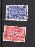 Espagne 1938 (T-P Des Iles Canaries) PA N° 184**,185** - 1931-Hoy: 2ª República - ... Juan Carlos I