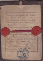 Cadre Religieux ( Reliquaire ? )ecrit En Latin Pour .J.M. Vianney Curé D'ars (01)-daté Du 8 Juillet 1871 Cachet De Cire - Images Religieuses