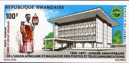 Ref. 222027 * NEW *  - RWANDA . 1971. AFRICAN TELECOMMUNICATIONS UNION. UNION AFRICANA DE TELECOMUNICACIONES - Ruanda