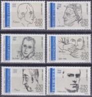 Frankreich, 1991, Mi.Nr. 2819/24/ , MNH **,  Écrivain - France