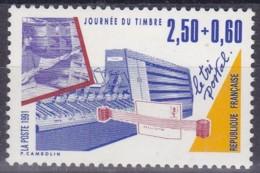 Frankreich, 1991, Mi.Nr. 2826 A , MNH **,  Le Jour Du Timbre. - Unused Stamps