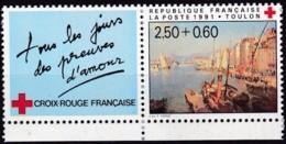 Frankreich, 1991, Mi.Nr. 2867 C, MNH **,  Croix-Rouge.  Port De Toulon. - Unused Stamps