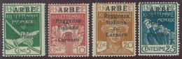 ITALIA - ARBE SASS. 1 - 4 NUOVI - 8. WW I Occupation