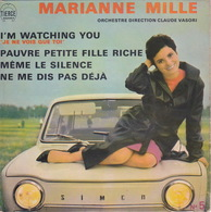 MARIANNE MILLE - EP - 45T - Disque Vinyle - I'm Watching You - 5 - Simca 1000 - Vinyles