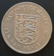 JERSEY - 10 PENCE 1975 - Elizabeth II - 2eme Effigie - KM 33 - TEN NEW PENCE - Jersey
