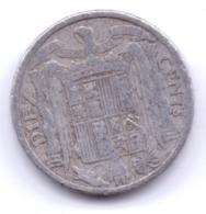 ESPANA 1940: 10 Centimos, KM 766 - 10 Céntimos