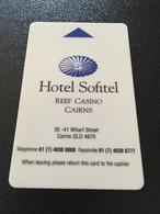 Hotelkarte Room Key Keycard Clef De Hotel Tarjeta Hotel  SOFITEL REEF CASINO CAIRNS - Télécartes