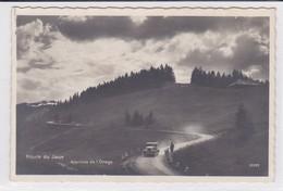 Route Du Jaunpass, Ancienne Voiture, Cycliste. Carte-photo - BE Berne