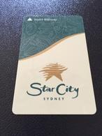 Hotelkarte Room Key Keycard Clef De Hotel Tarjeta Hotel  SYDNEY STAR CITY Hotel & Casino - Télécartes