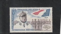 COTE FRANCAISE DES SOMALIS P A  25e Anniversaire De La Mort De L'administrateur Bernard  N°27 * - Unused Stamps