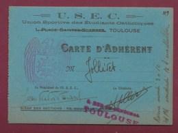 240320A - 31 TOULOUSE Carte 1942 43 USEC Union Sportive étudiants Catholiques Rue De Sénéchal - Toulouse