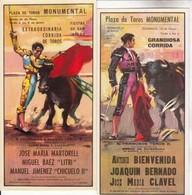 Cartes Affiche De Corrida - Lot De 14 Cartes De Format 21X10 Cm    -  Achat Immédiat - Taureaux
