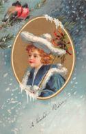 Enfant (Fantaisie) - Médaillon - Oiseaux - Enfants