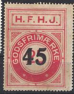 Denmark Local Railway Parcel Post,H.F.H.J. 45/25 Oere  .Trains/Railways/Eisenbahnmarken - Treni