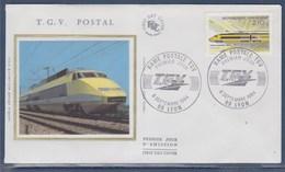 = Création Du TGV Postal Enveloppe 1er Jour 69 Lyon 8.9.84 N°2334 La Rame Postale - 1980-1989