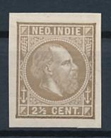 Nederlands Indië - 1875 - 2,5 Cent Willem III, Proef 37d - Bruinolijf - Niederländisch-Indien