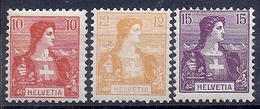 18216.....BUSTE D' HELVETIA No. 104 à 106   * * - Nuovi