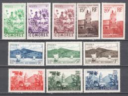 Isole Comore 1950 Y.T.1/11 */MH VF/F - Nuovi