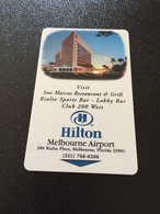 Hotelkarte Room Key Keycard Clef De Hotel Tarjeta Hotel  HILTON MELBOURNE AIRPORT FLORIDA  CASINO SUNCRUZ - Télécartes